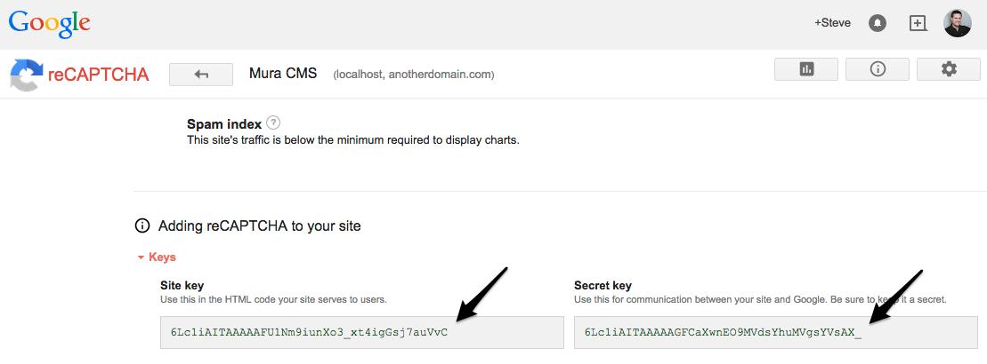 How To Setup Google reCAPTCHA For Form Protection - Mura Docs v6