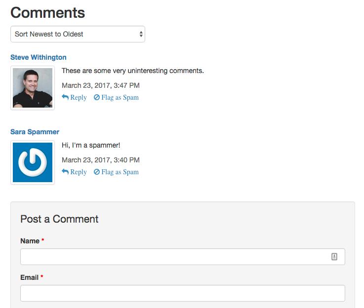 Managing Comments - Mura Docs v7 0